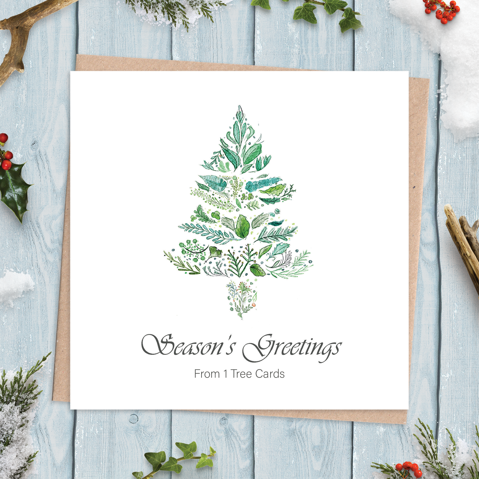 Corporate Christmas Cards with Tree Design
