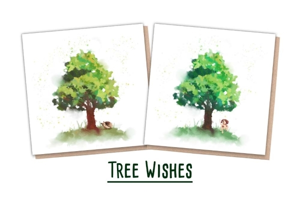 One Tree Planted - 2 Tree Cards with animals