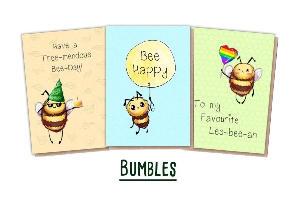 Plantable Cards - 3 Bee Cards
