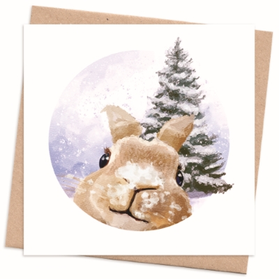 Eco Friendly Christmas Cards Pack - Rabbit