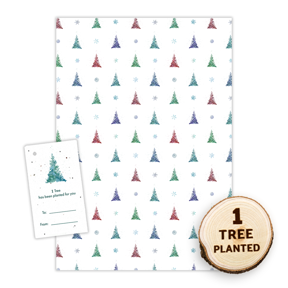 Recycled Christmas Wrapping Paper - Tree Wishes