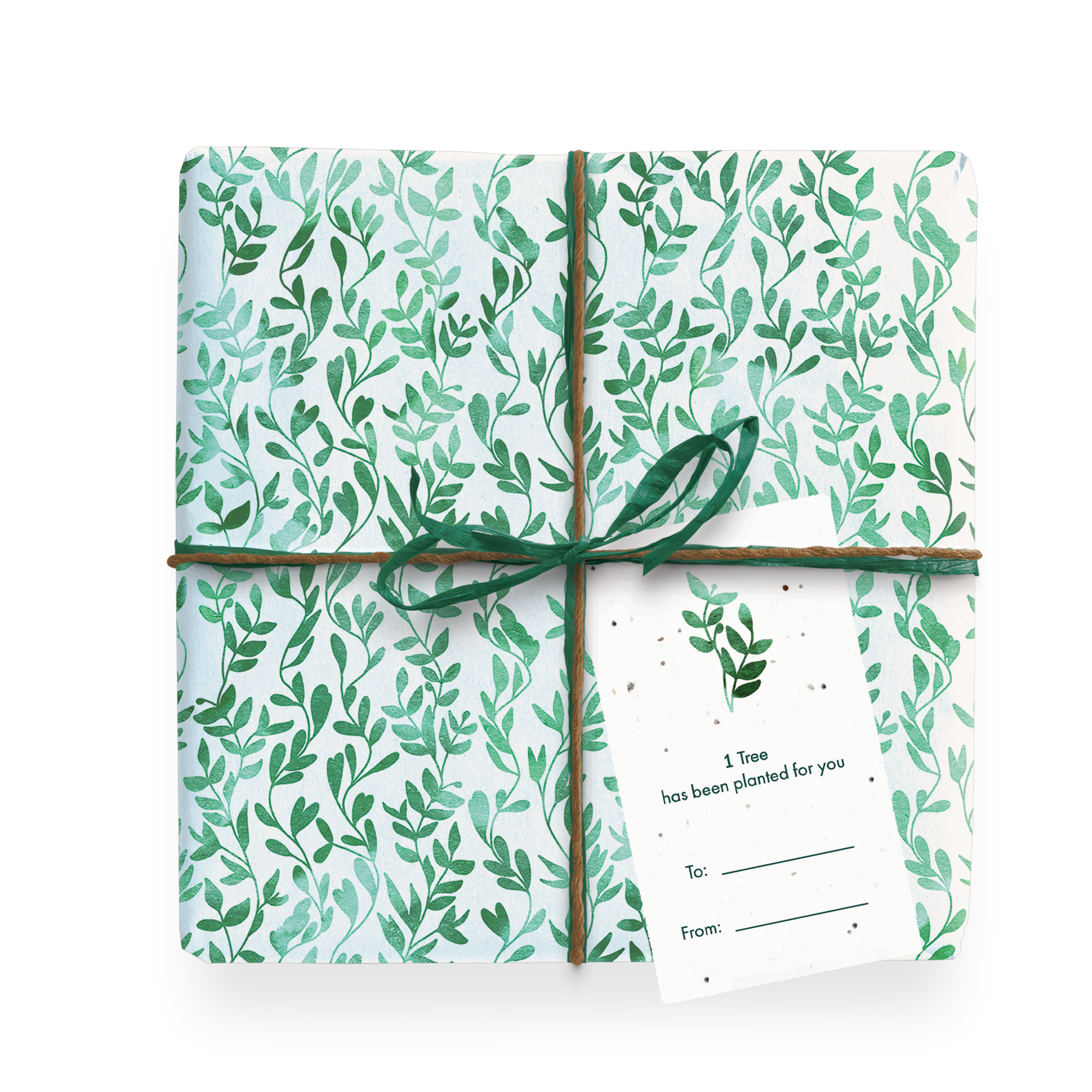 Eco Friendly Wrapping Paper - Vines Wrapped Gift