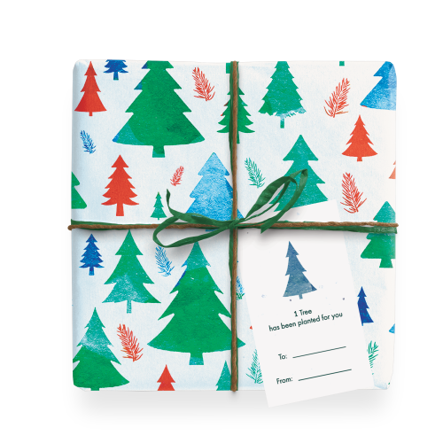 Eco friendly Wrapping Paper - Forest Wrapped Gift