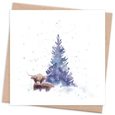 Recycled & Sustainable Card with Tree and Cow
