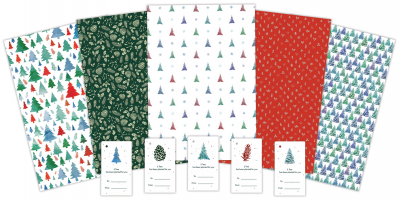 Festive Wrapping Paper Pack Fan