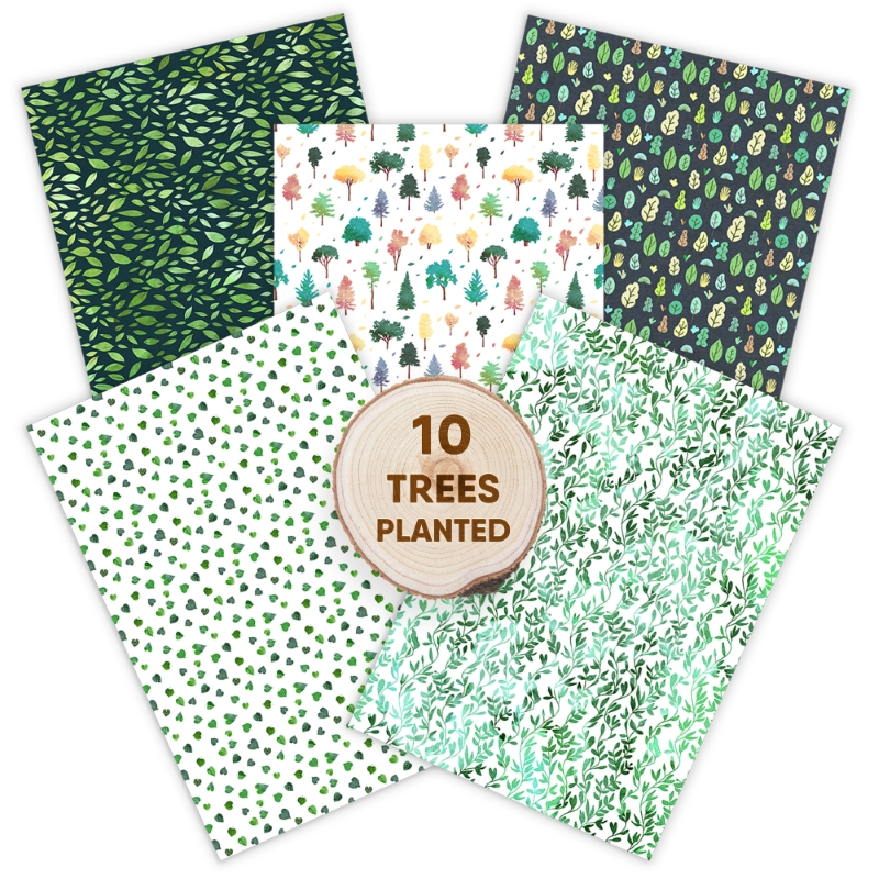 Eco Friendly Recycled Wrapping Paper Set